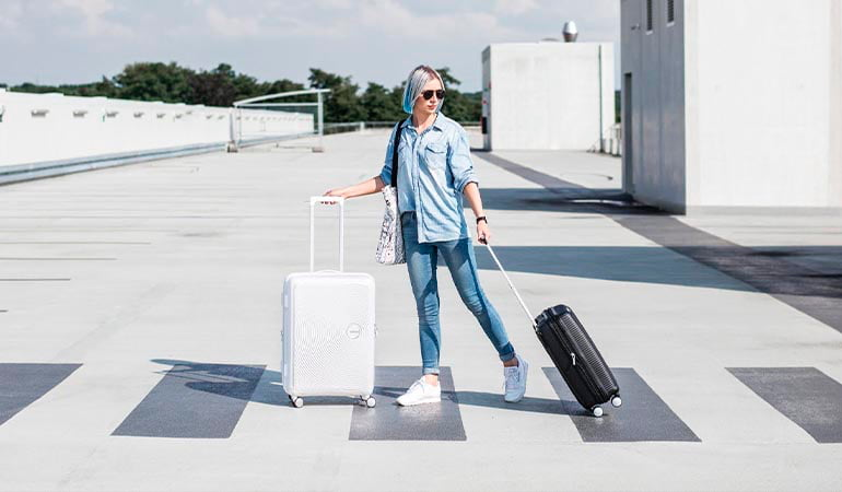 maleta sound box American tourister