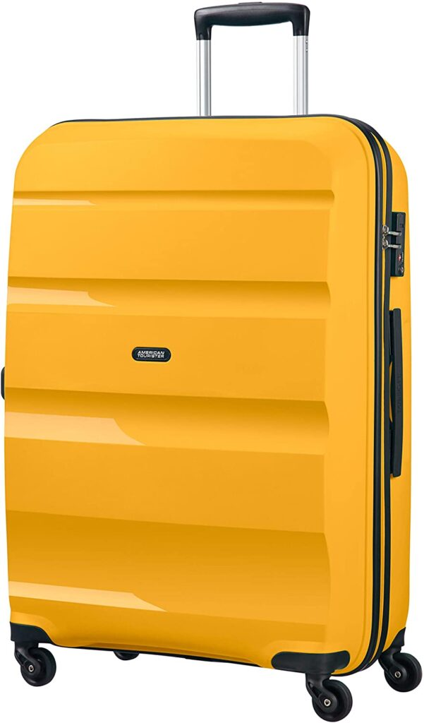 maleta Bon Air American Tourister amarilla