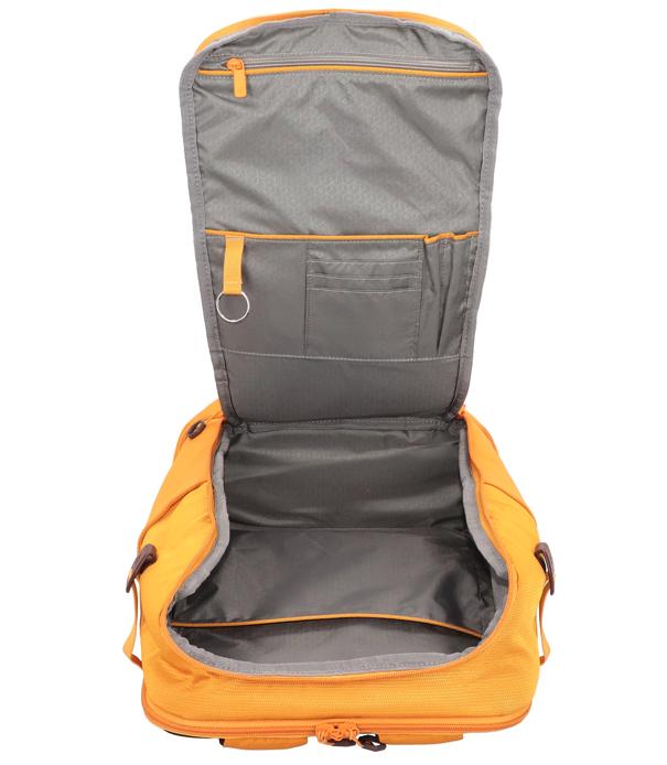 mochila Hexa Packs Samsonite amarilla abierta
