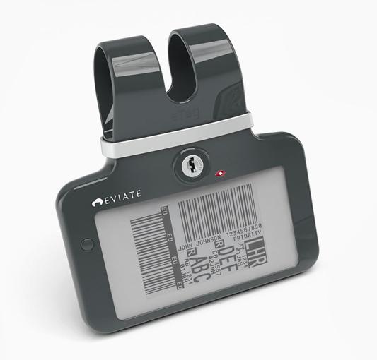 Etiqueta de equipaje electrónica