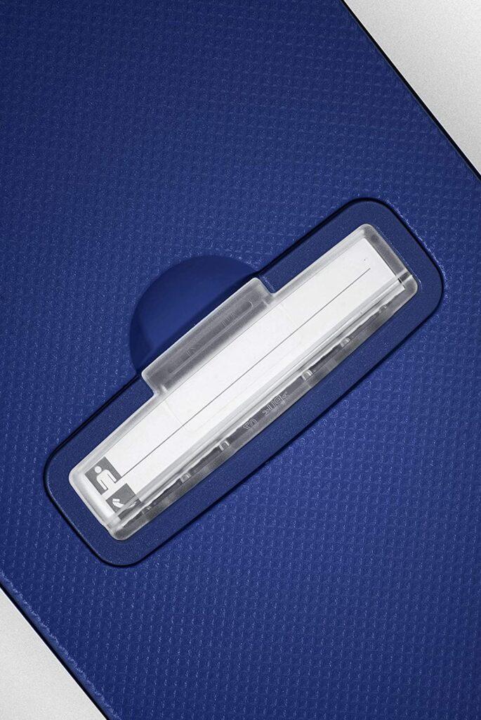 etiqueta de identificación de la maleta S'Cure de Samsonite